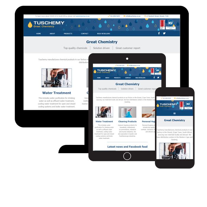 Tuschemy website responsive views