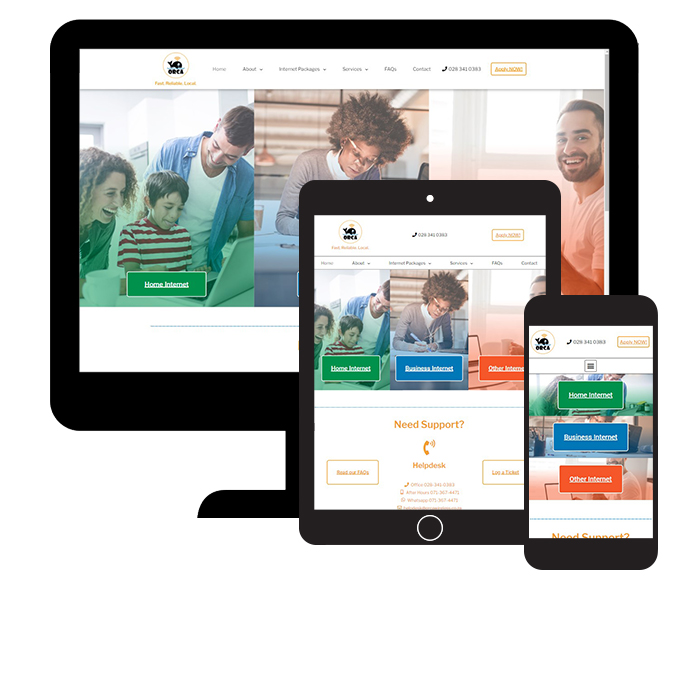 Orcatech website responsive views
